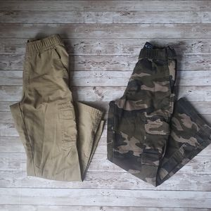 2 pairs of Childrens Place Big boys Cargo Pants